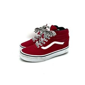 Vans Off The Wall High Top Shoes youth Red Size 2